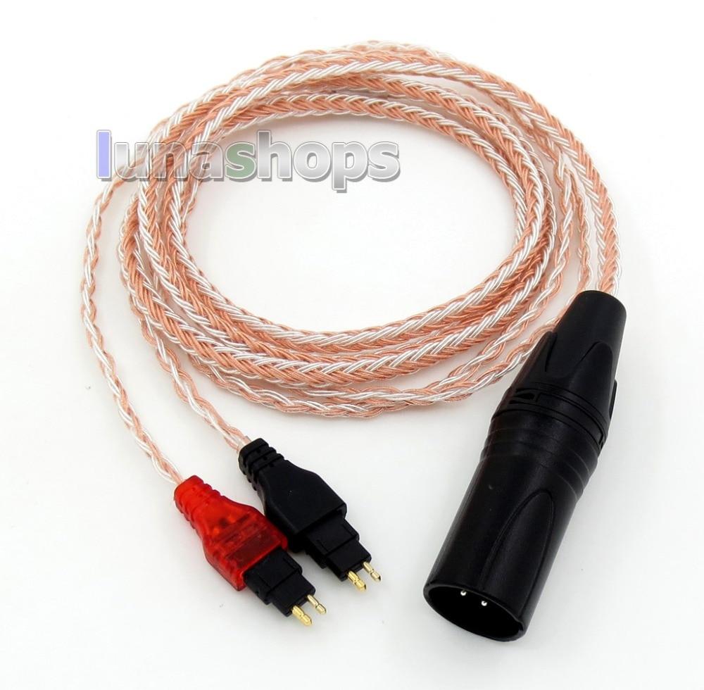 XLR 16 Cores OCC Silver Plated Mixed Headphone Cable For Senheiser HD25-1 SP HD650 HD600 HD580 HD525 120cm pure pcocc earphone cable pep insulated for sennheiser hd25 1 sp hd650 hd600 hd580 hd525 hd565 headphone ln004887
