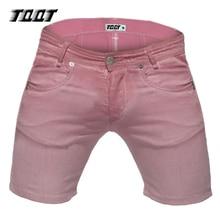 Tqqt männer schließt beiläufige denim shorts cargo short reißverschluss bermuda männlich herren bunten kurze regelmäßige dünne kurze jeans 5p0610