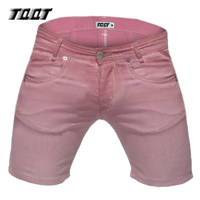 Tqqt shorts casual denim shorts da carga dos homens curta zipper fly regular magro short jeans bermuda masculina mens curto colorido 5p0610
