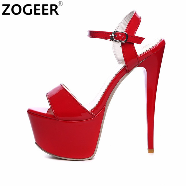 545b232a08 Plus Size 48 2019 Summer Fashion Women Sandals Sexy Extreme High Heels 16CM  Sandal Platform Luxury Red Party Wedding Shoes Woman