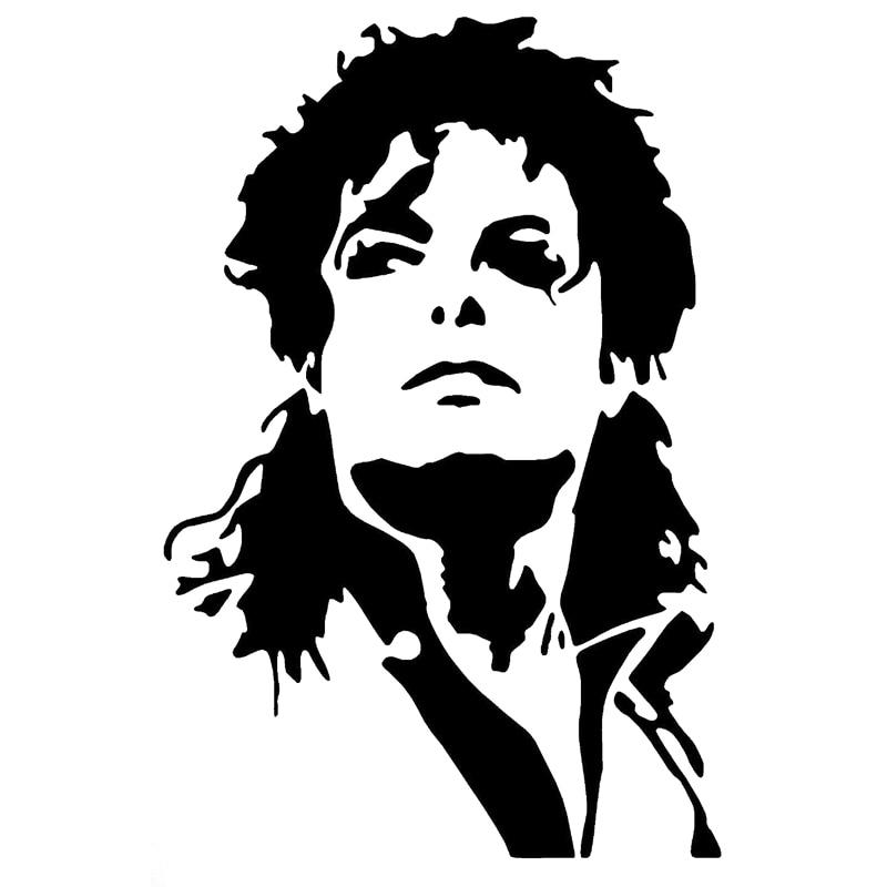 Us 111 40 Off107 Cm 16 Cm Michael Jackson Auto Aufkleber Decor Auto Styling Vinyl Aufkleber Schwarzsilber S3 6894 In Autoaufkleber Aus