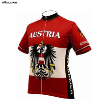 ba36a76e583 Classical AUSTRIA National Team Maillot Cycling Jersey Customized Orolling  Tops