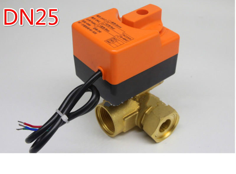 цена motorised valve or manual valve electric motor Three way ball valve 220v DN25