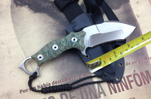 White StoneWashed  fixed blade knives American kami DC53 Camping Tactical Hunting Knife Fixed