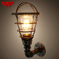American industrial porch stairs corridor balcony lamps and lanterns of European antique retro restaurant bar conduit wall lamp
