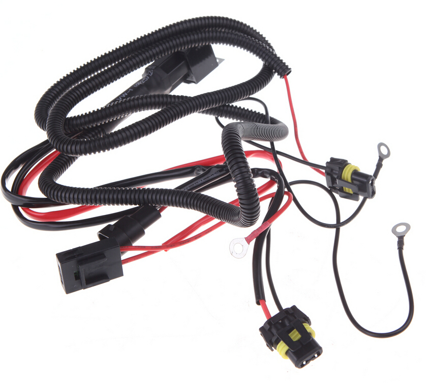 safego universal car kit xenon hid wire harenss h4 h1 h3 9005 9006 hb3 hb4  880 h11 h7 hid relay harness wiring kit auto 35w-in car light accessories  from