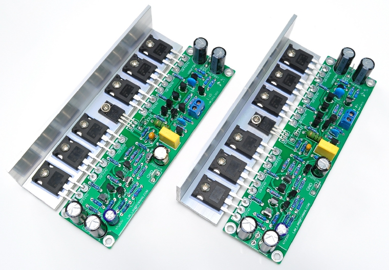 цена на Assembled L15 2-channels MOSFET power amplifier board with Angle aluminum