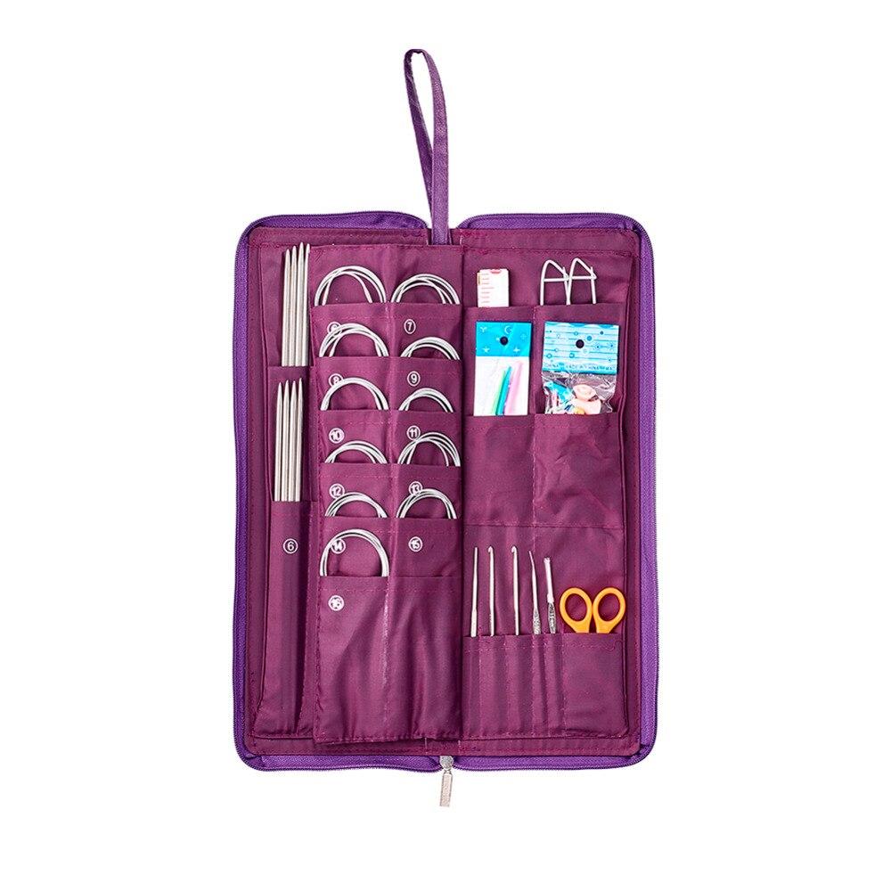 лучшая цена Pandahall 1 Set Stainless Steel Knitting Tool Sets Double Pointed Knitting Needles Crochet Hooks Scissor for Jewelry Making