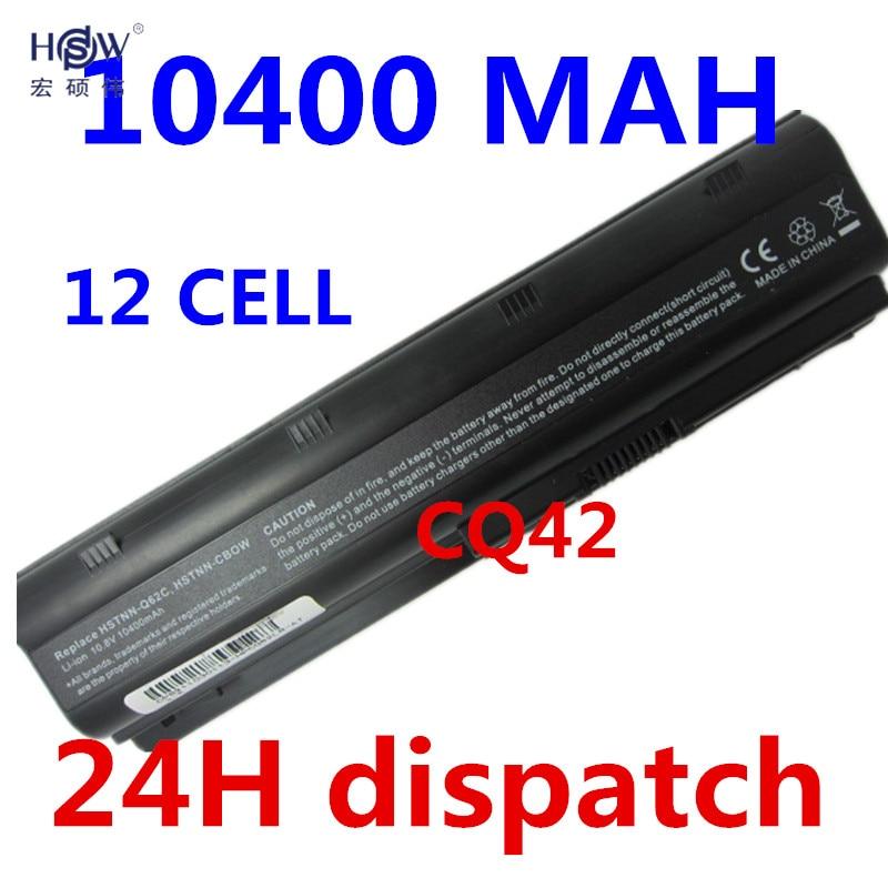 HSW 10400MaH Battery for HP Pavilion DM4 DV3 DV5 DV6 DV7 G32 G42 G62 G56 G72 for COMPAQ CQ32 CQ42 CQ56 CQ62 CQ630 CQ72 batteria аккумулятор 4parts lpb dv3 для hp pavilion dm4 dv3 dv5 2000 dv6 dv7 g6 g7 g42 g62 g72 envy 17t compaq cq32 cq42 series 11 1v 4400mah