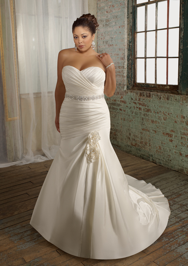 Customize Elegant Handmade Quality Fashion Fat People Plus Size Wedding Gowns Mopping The Floor Formal Dress In From Weddings Events On