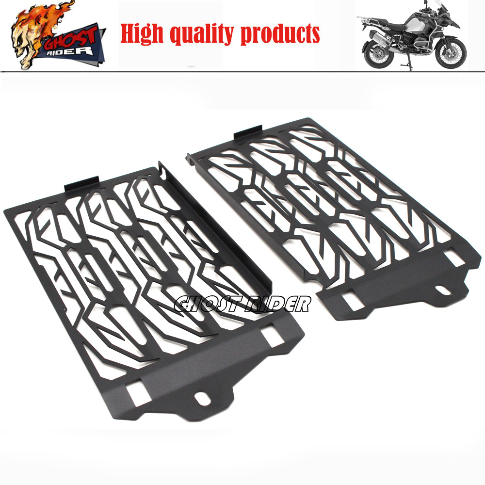 1-Pair Aluminum Radiator Guard Cover For BMw R1200GS Models 2013- 2016 Radiator Oil Cooler Protector Grille Free Shipping waase arashi radiator grill oil cooler grille guard protector protective cover for bmw s1000rr s1000xr s1000r hp4