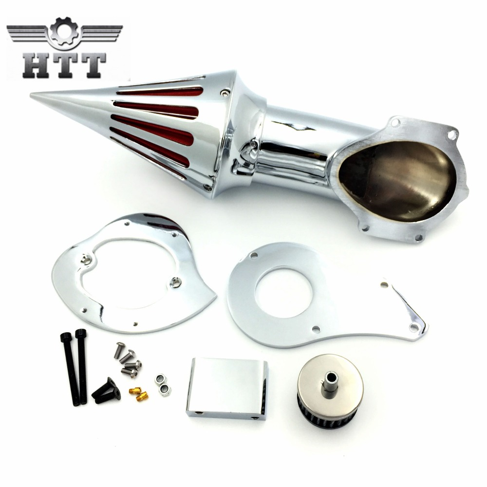 Aftermarket motorcycle parts Spike Air Cleaner Kits intake filter for Honda Shadow 600 VLX600 1999-2012 CHROMED chrome aluminum motorcycle spike air cleaner intake filter case for honda shadow vlx600 vt600cd deluxe 1999 up