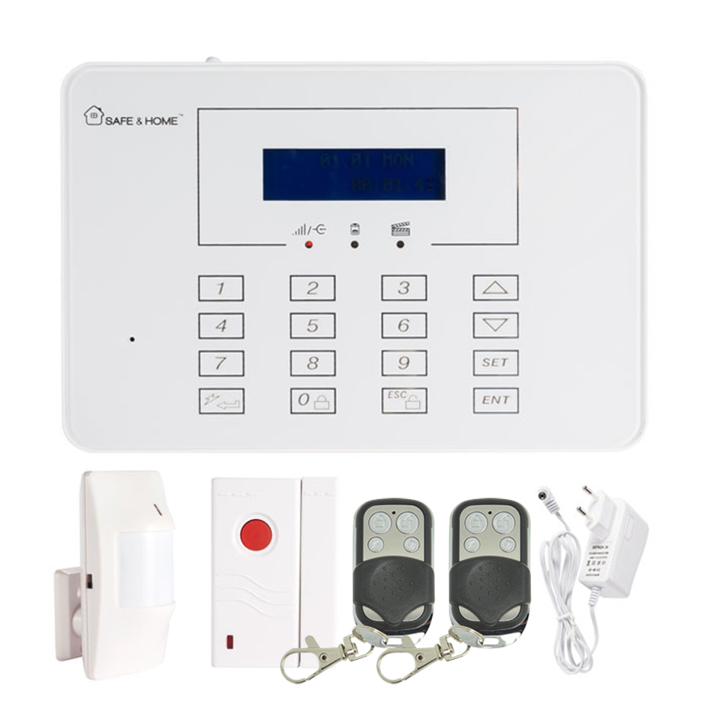 (1 set) 433mhz Intelligent Home Security wireless alarm system SMS GSM alarm touch panel ...