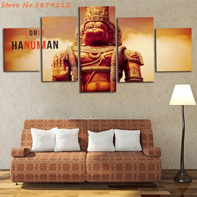 Dattatreya Statue Of Hanuman Murti Poster Modern Indian Lord Unframed Art  Printed Wall Decor Pictures Home