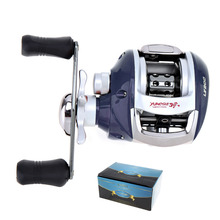 купить Stainless Steel Fishing Bait Casting Reel 12+1BB 6.3:1 Gear Ratio with Magnetic Brake Right / Left Hand Fishing Wheel дешево