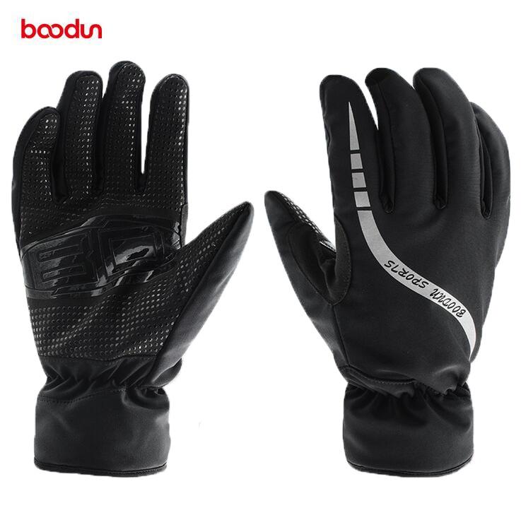 Boodun Winter Thermal Fleece Men Skiing Gloves Windproof Waterproof Snowboard Gloves Non Slip Cycling Motorcycle Gloves Mittens