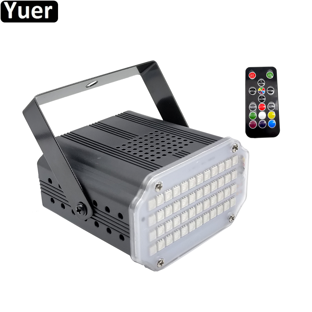NEW 48 LED RGB 3IN1 Strobe Lights Disco DJ Party Holiday Christmas Music Club Sound Activated Flash Music Stage Lighting Effect