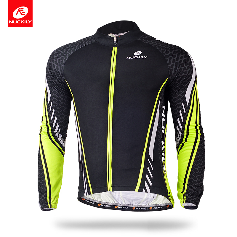 NUCKILY Summer Bicycle Jersey Breathable Long Sleeve Combinatin Cycling Clothing Wear For Men MC009 nuckily ma008 mb008 men short sleeve bicycle cycling suit