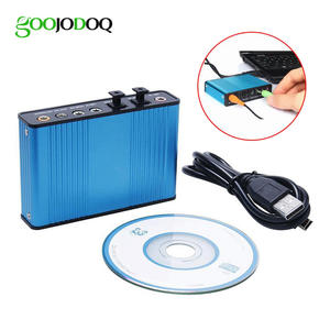 GOOJODOQ CM6206 Professional USB Sound Card 6 Channel for Laptop Desktop
