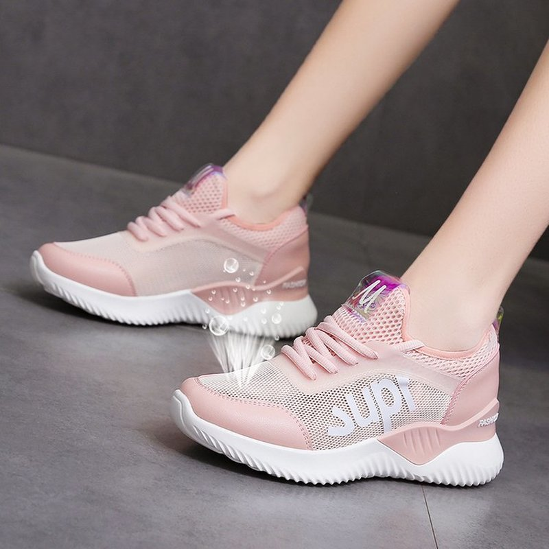 Small white shoes female 2019 summer breathable running shoes fashion foreign gas wild students summer mesh sports shoes