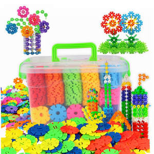 Baby Toys Building-Blocks Snowflake Construction-Plastics Educational Creative Children