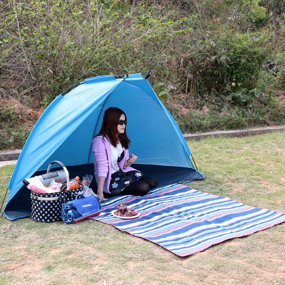 Image 5 - TOMSHOO Outdoor Sports Sunshade Tent for Fishing Picnic Beach Park Camping Tent Tents Outdoor Camping Tent Travel-in Tents from Sports & Entertainment