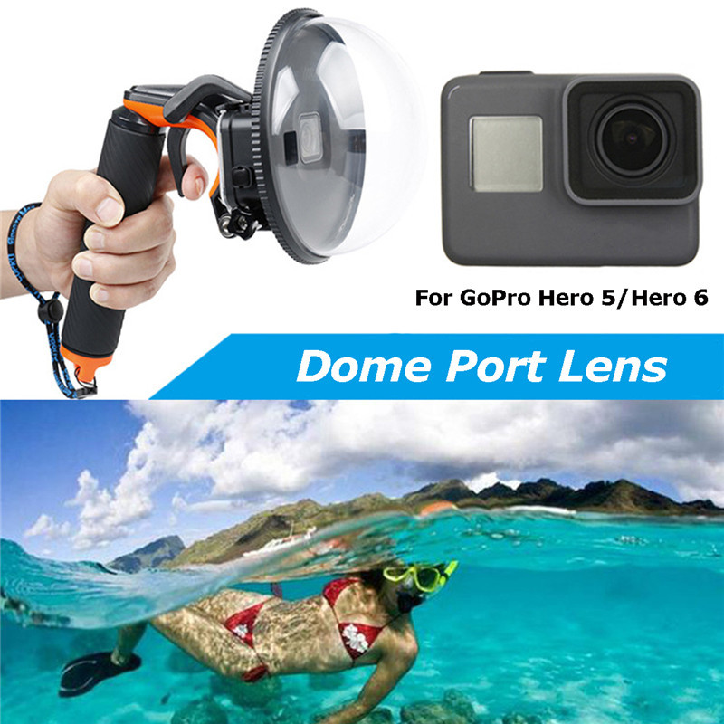 Freya Diving Accessories Dome Port Underwater Diving Camera Lens Cover For GoPro Hero 5/6 Black Camera Photography Cover