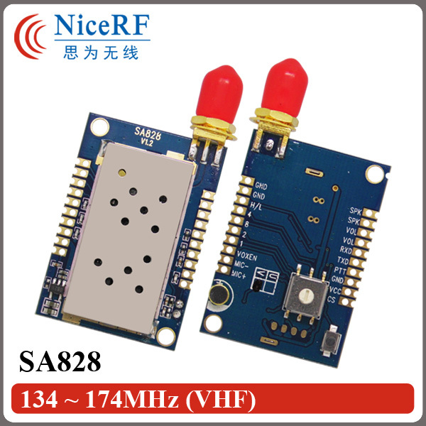 2pcs/pack 134-174MHz SA828 VHF Band 3-5km Distance 1W Walkie Talkie Module (Not Including Antenna)