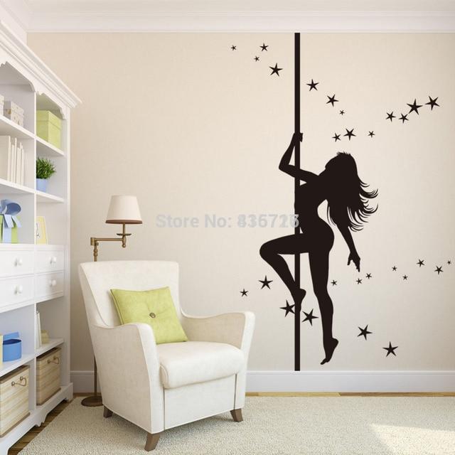 Modern diy decorative wall paper mural pvc girl the hot for Panneau mural pvc