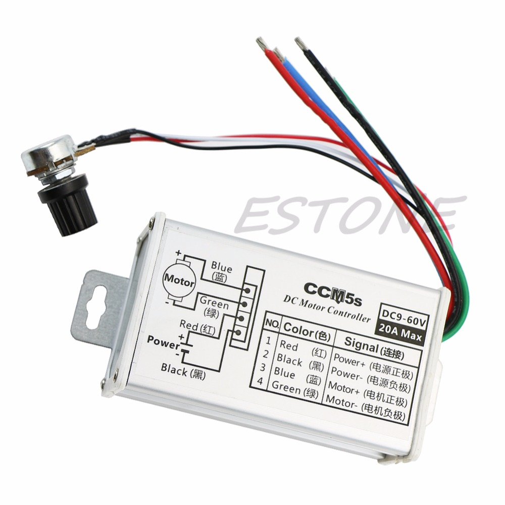 Motors & Parts Loyal 25khz 9v 12v 24v 48v 60v 20a Dc Motor Speed Controller Regulator Driver Pwm Dc Motor L057 New Hot Matching In Colour