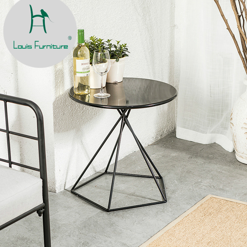 Groovy Louis Fashion Coffee Tables Nordic Simple Iron Small Table Gmtry Best Dining Table And Chair Ideas Images Gmtryco