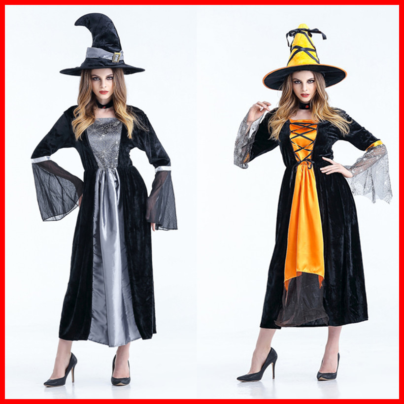 Deluxe <font><b>Halloween</b></font> <font><b>Sexy</b></font> Adult <font><b>Women</b></font> Vampire Costumes Victorian Vamp Fancy Party Dress <font><b>Witch</b></font> Female Costumes Zombie Uniforms image