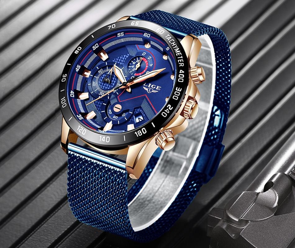 HTB1YWv7ONYaK1RjSZFnq6y80pXak LIGE Fashion Mens Watches Brand Luxury WristWatch Quartz Clock Blue Watch Men Waterproof Sport Chronograph Relogio Masculino