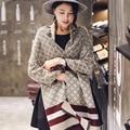 2016 Invierno Para Mujer Bufandas de Lujo de Marca de Cachemira Bufanda A Cuadros Bufanda Marcada para Señoras de Las Mujeres Chales y Bufandas de Pashmina Echape