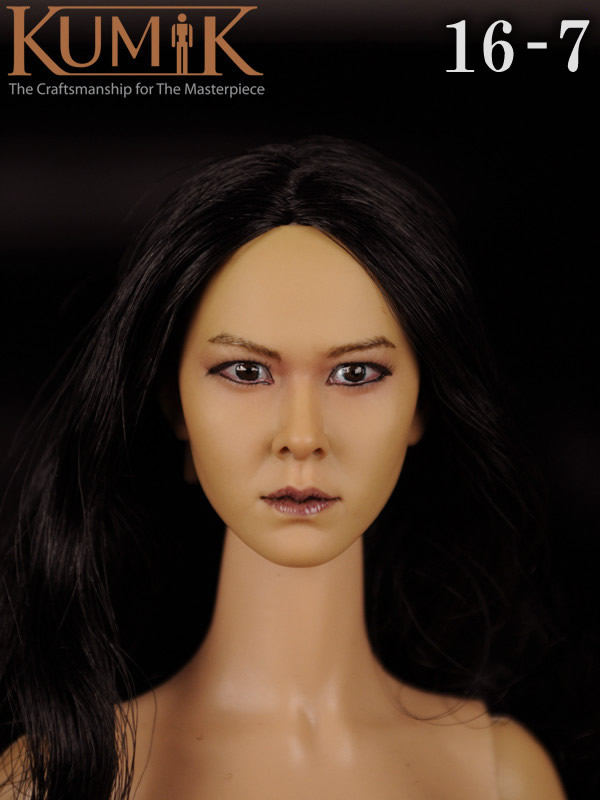 KUMIK 16-7 1:6 Scale female Figure accessories head shape carved for 12 Action figure doll,not include clothes;body and other cheap hot 1 6 kumik fs 16 female shoes boots black color for 12 figure body toys accessories