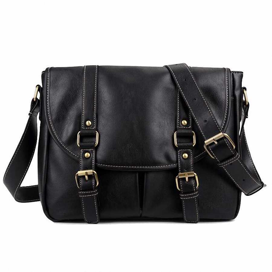 PU กระเป๋าหนังผู้ชายกระเป๋าถือขนาดใหญ่กันน้ำชายกระเป๋าสะพายชาย Crossbody กระเป๋าเดินทางผู้ชาย Mochlia LI-2002