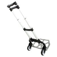 80KG Aluminium Sack Truck Folding Hand Cart Wheel Trolley Heavy Duty Barrow