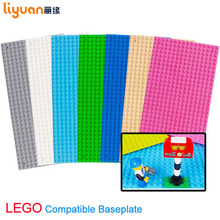 Liyuan Baseplates Base Plate Building Blocks  Construction Education Toys 16x32 Dots Fit for Most Small Block