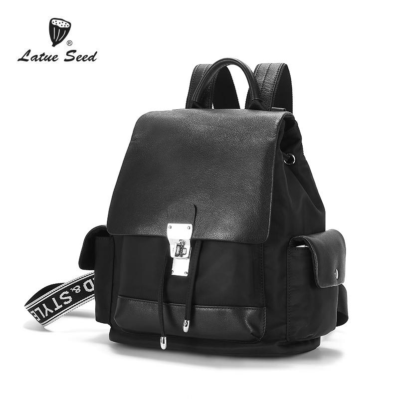 Latue Seed Genuine Leather Backpack 2018 NEW Solid Trend Wild Fashion  Crossbody Backpack Oxford Cloth Womens BackpackLatue Seed Genuine Leather Backpack 2018 NEW Solid Trend Wild Fashion  Crossbody Backpack Oxford Cloth Womens Backpack