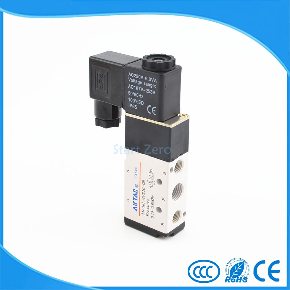 5 Way 2 Position Airtac Electric Solenoid Valve 4V210-08 1/4 Port Size торшер arm219 11 g maytoni page 6