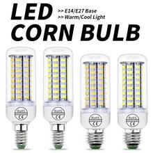 Ampoule LED épis de maïs E27 E14, lampe à économie d'énergie pour la maison, 3W 5W 7W 12W 15W 18W 20W 25W, 220V, 5730