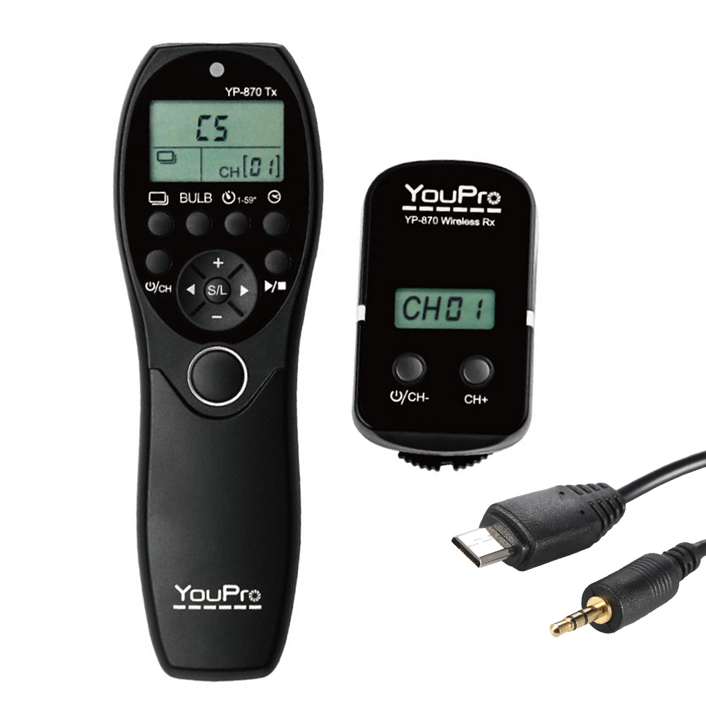 Camera Wireless Dslr Camera Control popular dslr camera remote buy cheap lots from youpro yp 870 dc2 lcd timer shutter release 32 channels 2 4g wireless control