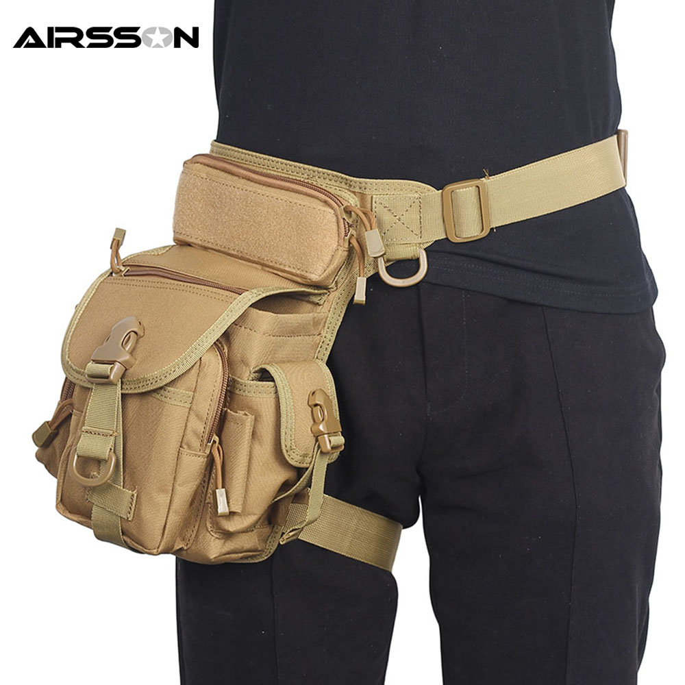 Tactical Thigh Drop Leg Bag With Water Bottle Pouch Nylon Waist Pack Outdoor Military Hunting Camping Climbing Sport Bags 2016 real multifunctional swat waist pack leg bag tactical outdoor sports ride waterproof military hunting bags wholesale