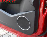 BJMYCYY Door Sound Speaker Ring Box Cover Trim Decoration ABS Chrome Stickers Car Styling Accessories For