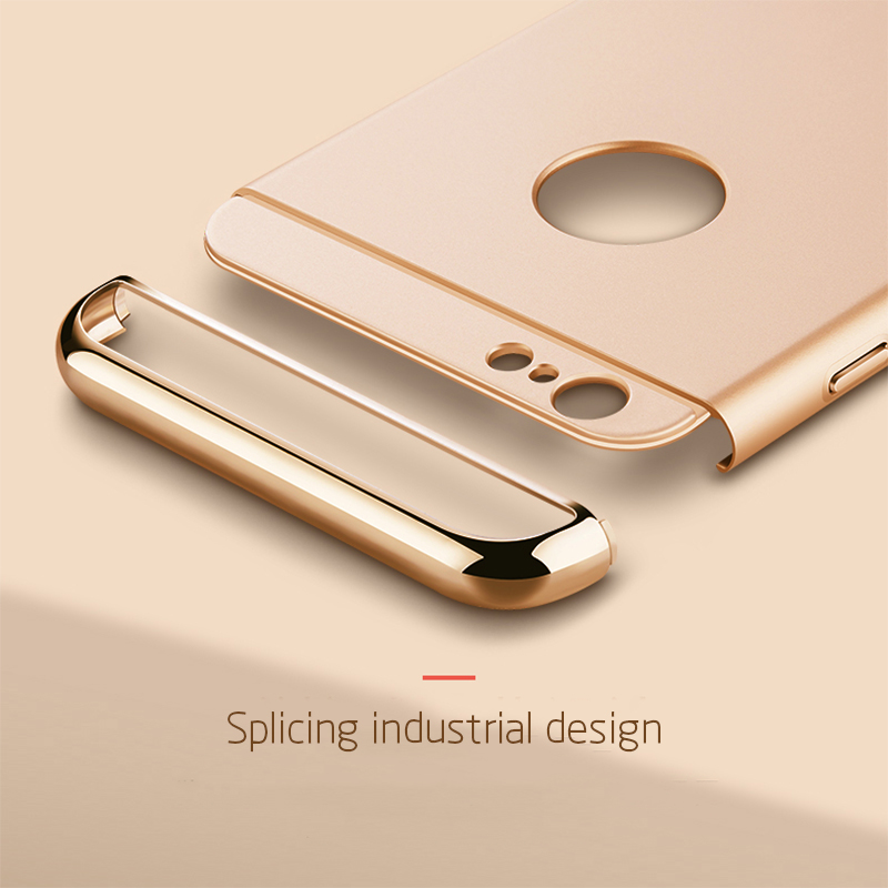 3 in 1 Luxury Hard Case Cover For All IPhone Model 3