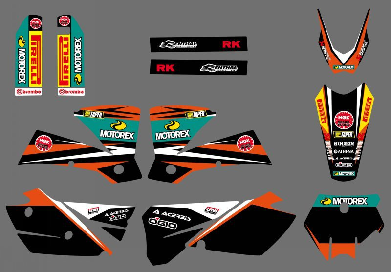 0293 NEW TEAM GRAPHICS WITH MATCHING BACKGROUNDS Sticker For KTM 125 200 250 300 450 525