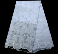 Promotion Sale Embroidery Swiss Lace Fabric Cotton Swiss African Lace white For Party With Stones Nigerian Dry Lace