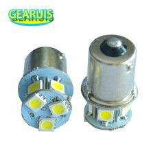 100X Kamyon LED 24 V S25 P21W BA15S 1156 8 SMD 5050 LED 8SMD Otobüs Dönüş sinyal ışığı Parkı Otomobil Lambası kama Ampuller Soğuk beyaz 24 V