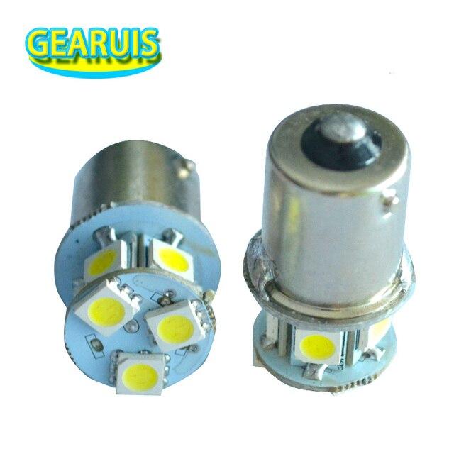 100X شاحنة LED 24 فولت S25 P21W BA15S 1156 8 SMD 5050 LED 8SMD حافلة بدوره مصباح إشارة بارك السيارات مصباح إسفين لمبات الباردة الأبيض 24 فولت