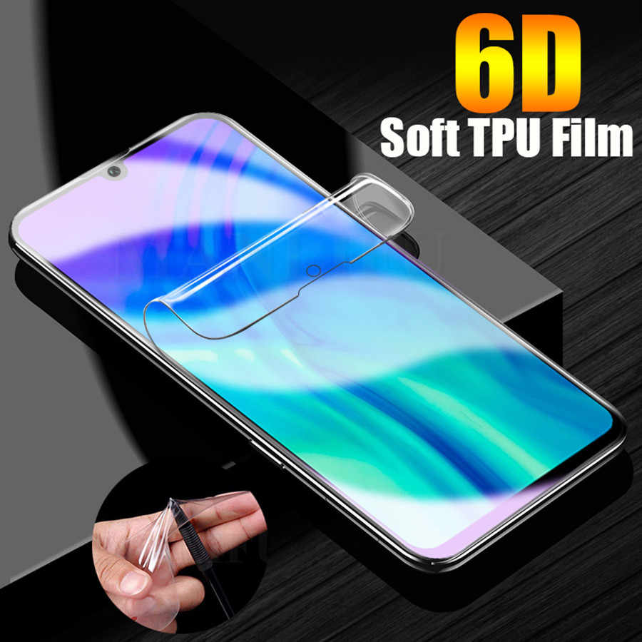 6D Soft TPU Clear Film For Huawei P30 P20 Pro Honor View 20 8X P30 P20 Mate 20 30 Lite Silicone Hydrogel Screen Protector